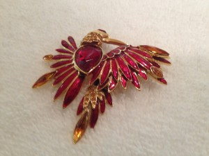Firebird brooch
